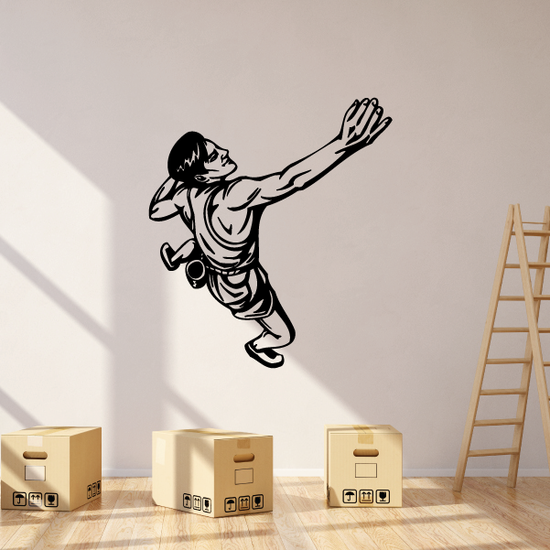 Rock Climber Scaling the Cliff Decal
