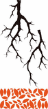 Tree Branch and Leaves Decal
