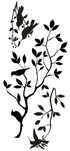 Humming Birds with tree branches Decal
