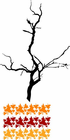 Tree Branch with Leaves Decal