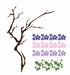 Cherry Blossom Flower Tree Branch Decal