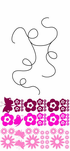 Flowers on a String Decal