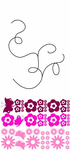 String Branch Leaf and Flowers with butterflies Decal