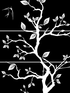 Three Part Cherry Blossom Branch Decal