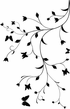 Vine with Butterflies Decal