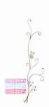 Curly Branch and Butterflies Decal