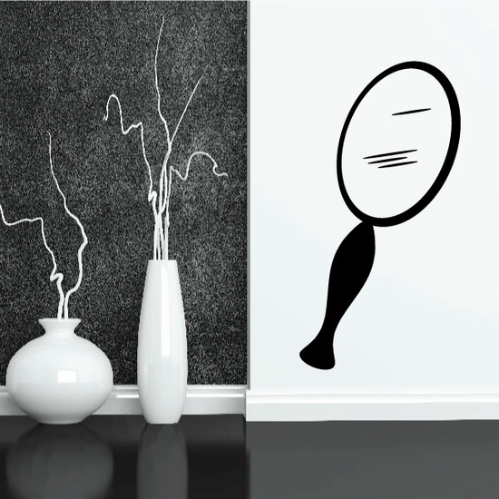 Hand Mirror Decal
