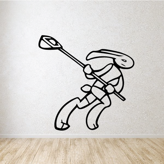 Bunny Lacrosse Player Decal