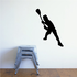 Warming Up Lacrosse Player Decal