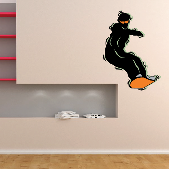 Snowboarding Wall Decal - Vinyl Sticker - Car Sticker - Die Cut Sticker - CDSCOLOR047