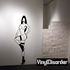 Posing Nude Woman in Heels Decal