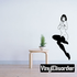 Surprised Sitting Woman in Nylons Decal