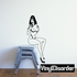 Sitting Woman in Cupless Lingerie Decal