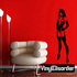 Woman in Lingerie with Hands on Hips Decal