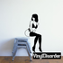 Sitting Woman in Lingerie Pinup Decal