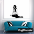 Sitting Woman in Thigh Highs and Open Vest Decal