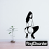 Crouched Topless Woman in Heels Decal