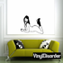 Reclining Woman in High Heeled Boots Decal