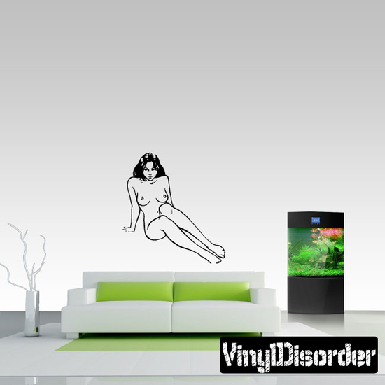 Nude Woman Sitting Up Decal