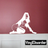 Kneeling Nude Woman in Nylons and Gloves Decal