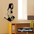 Sitting Woman in Lingerie Decal