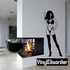 Smoking Woman in Lingerie Decal