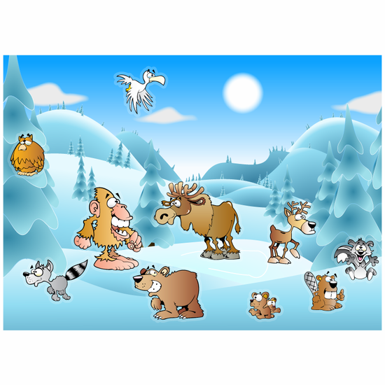 Snow Themed Static Cling Adventure Kit