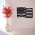 Simple Rippling America Flag Decal