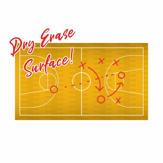 Dry Erase Basketball Court Sticker