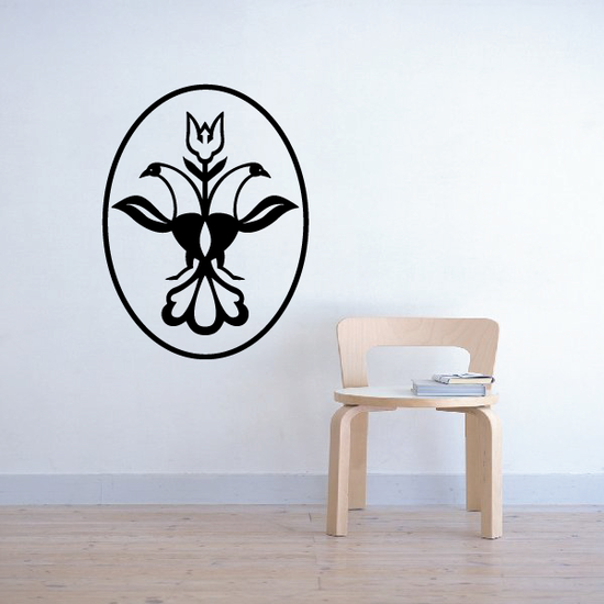 Weather Vane Flower Blossom Decal