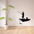 Freshwater Fishing Man and Boat Decal