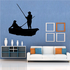 Boat Fishing Wall Decal - Vinyl Decal - Car Decal - 004