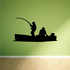 Fishing Boat Wall Decal - Vinyl Decal - Car Decal - 022