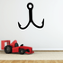 Fishing Hook Wall Decal - Vinyl Decal - Car Decal - NS004