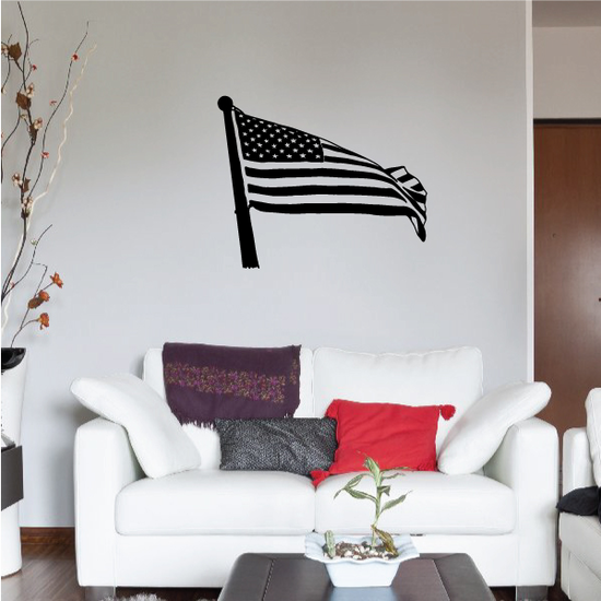 Breezy America Flag Decal