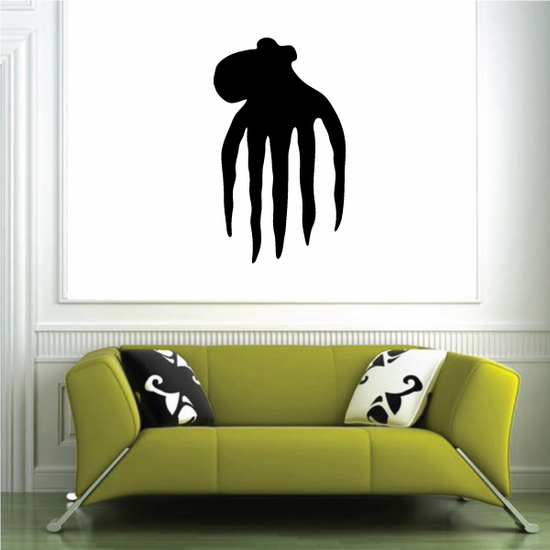 Floating Octopus Silhouette Decal