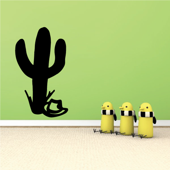 Cactus with Sombrero Decal