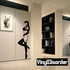 Woman on Tip Toes in Lingerie Decal