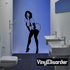 Woman in Lingerie Pinup Decal