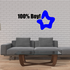 100 Percent Boy with Star Wall Decal