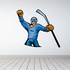 Hockey Player Wall Decal - Vinyl Sticker - Car Sticker - Die Cut Sticker - CDSCOLOR089