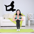Workout Stretching Wall Decal - Vinyl Decal - Car Decal - AL 005