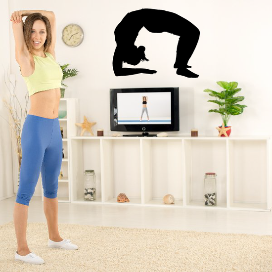 Workout Fitness Wall Decal - Vinyl Decal - Car Decal - AL 013
