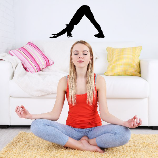 Workout Stretching Wall Decal - Vinyl Decal - Car Decal - AL 003