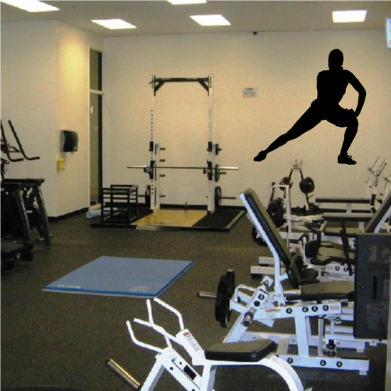Workout Stretching Wall Decal - Vinyl Decal - Car Decal - AL 013