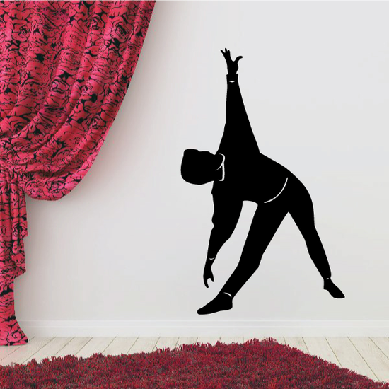 Toe Touch Stretch Fitness Wall Decal - Vinyl Decal - Car Decal - MC023