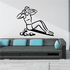 Female Doing Crunches Fitness Wall Decal - Vinyl Decal - Car Decal - MC032