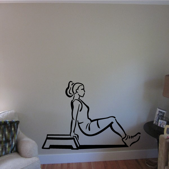 Female Body Lifts Fitness Wall Decal - Vinyl Decal - Car Decal - MC033
