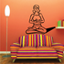 Female Doing Yoga Meditation Fitness Wall Decal - Vinyl Decal - Car Decal - MC043