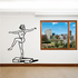 Female Stair Step Fitness Wall Decal - Vinyl Decal - Car Decal - MC050